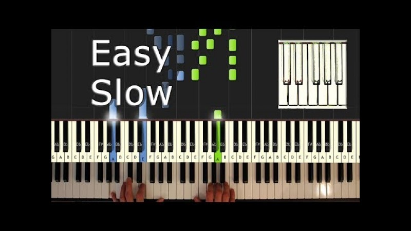 Wiz Khalifa - See You Again - Piano Tutorial Easy SLOW (ft. Charlie Puth) - How To Play (Synthesia)