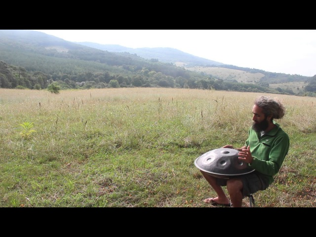 Playing Pantam Hand pan in Nature Hungary