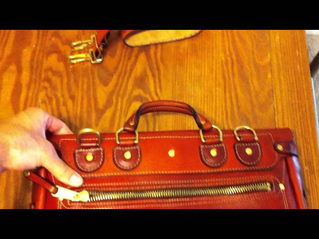 Moose Leather Shop Heirloom Leather Briefcase satchel saddleback leather review unboxing