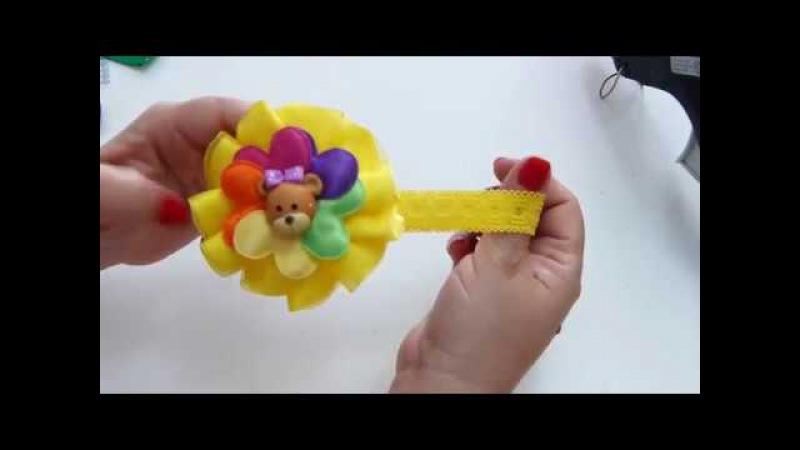 Complemento para el Cabello De las Bebes Moños sencillos de Liston