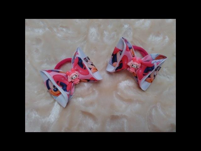 Бантики Малышки из репсовых лент МК Канзаши / Bows Baby girl from REP ribbons Kanzashi MK