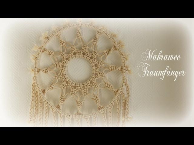 Makramee Traumfänger * DIY * Macrame Dreamcatcher [eng sub]