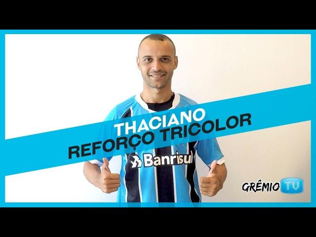 Thaciano assina contrato com o Tricolor l GrêmioTV