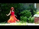 Ameynra fashion by Sofia Goldberg. Colors of fire. Skirt with petals