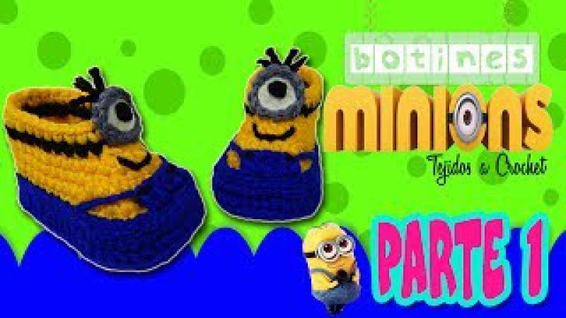 Botas, Botines de Minions Tejidos a crochet | parte 1/2
