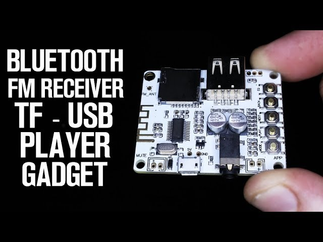 This Board is 5V, Bluetooth, FM receiver, TF and USB MP3 Gadget!
