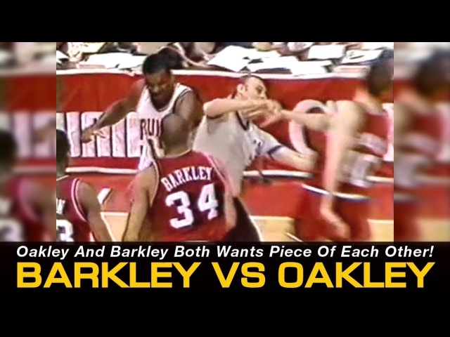 Charles Barkley Vs. Charles Oakley - Both Wants Pieces Of Each Other! (76ers @ Bulls, 1987)