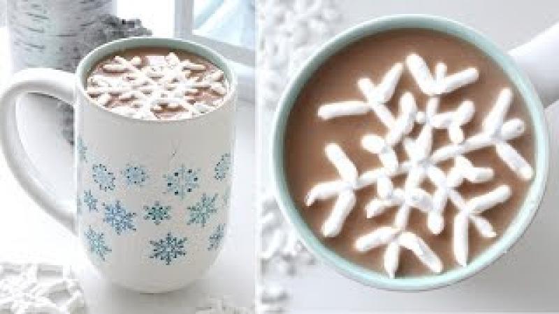 Snowflake Marshmallows   雪片のマシュマロ