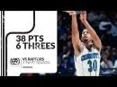 Dell Curry 38 pts 6 threes vs Raptors 96/97 season