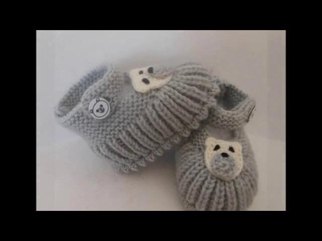 En Güzel Örgü Patikler- Erkek Bebek-Booties Knitting Patterns