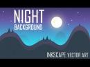 Flat Night 3 BG - Vector Game Art in Inkscape | MadFireOn |