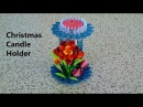 Full Tutorial Of A Beautiful Christmas Candle Holder How to make at Home creative craft art