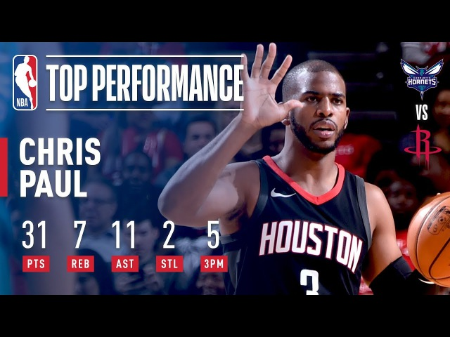 Chris Paul's 31 Points and 11 Assists Leads Rockets Over Hornets | December 13, 2017