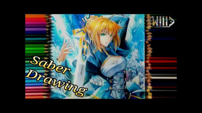 Speed Drawing - Saber Arturia Pendragon (Fate/Stay Night)