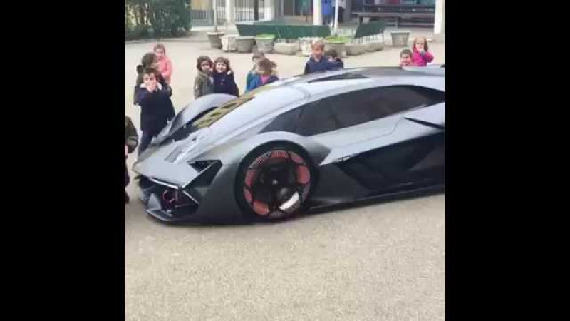 Kids and new Lamborghini Terzo Millennio concept