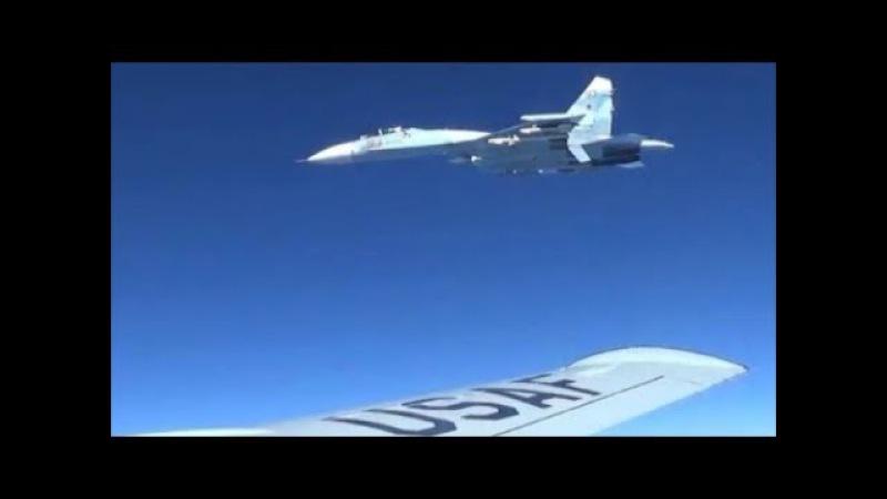 Russian Sukhoi Su-27 Intercepted a U.S. EP-3 Aries Over Black Sea    Jan. 29, 2018