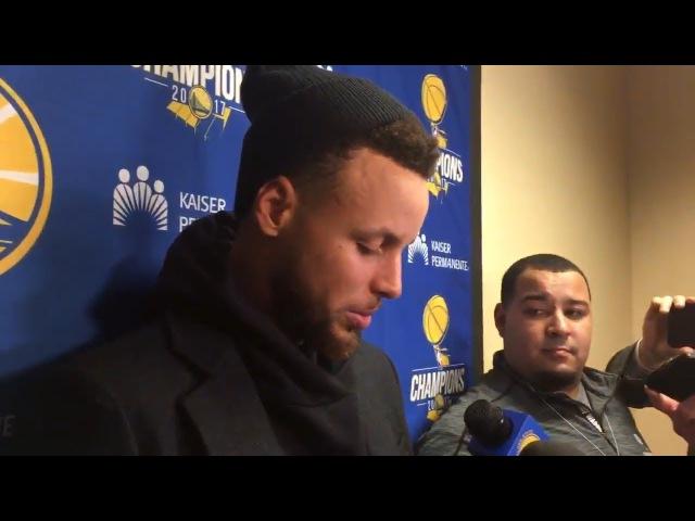Stephen Curry Postgame Interview Warriors vs Cavaliers January 15 2018 2017 18 NBA Season
