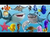 Learn Sea Animals NEW Disney Pixar Finding Dory, Nemo Cartoon For Kids - HandPlayTV for kids