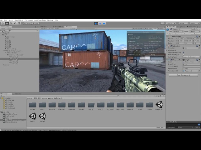 RPG FPS game assets set v3 (new demo map Unity3d)