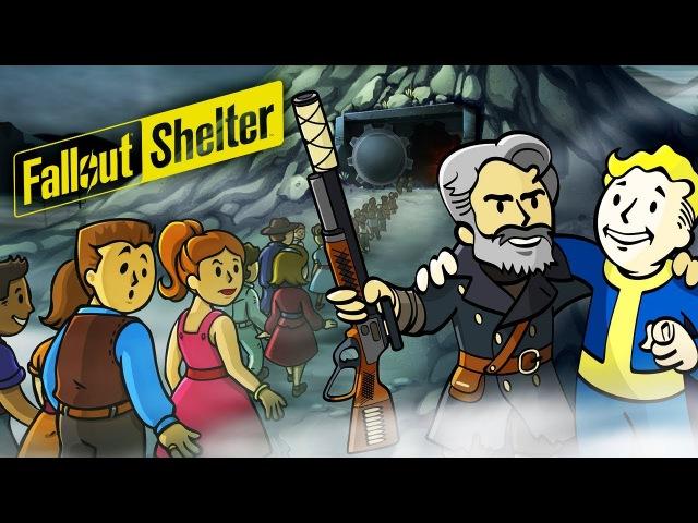 ПЕРВЫЕ ЖИТЕЛИ В УБЕЖИЩЕ Мультяшная игра про выживание Fallout Shelter