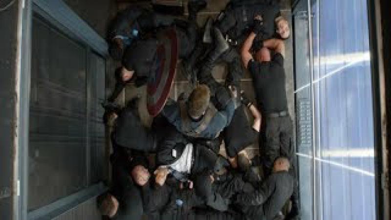 Capitão America lutando no Elevador DUBLADO HD | Capitão America 2: O Soldado Invernal (2014)