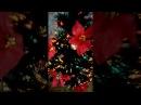 Ёлка искуственная светящаяся120см с цветами рождественника 1