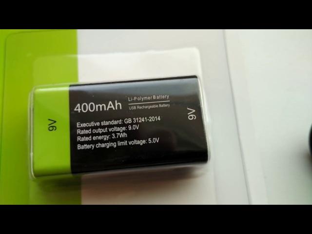 Заряжаемая 9В батарейка Крона Корунд
