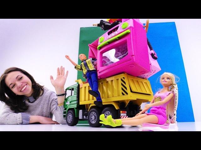 Кен и Барби переезжают в загородный дом. Мультики для девочек