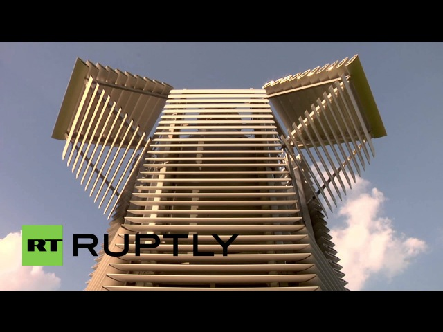 Netherlands: See the world's LARGEST air purifier filtering Rotterdam's skyline