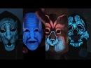 Светящаяся маска реагирующая на звук!