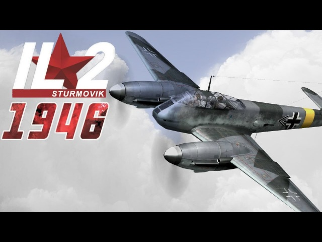 Full IL-2 1946 mission: Me-410s intercepting a B-17 combat wing