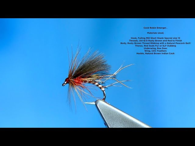 Tying a Cock Robin Emerger Dry by Davie McPhail