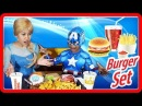 Elsa Captain America at Burger | King Kids Shows | Funny Jessi and Nick Show