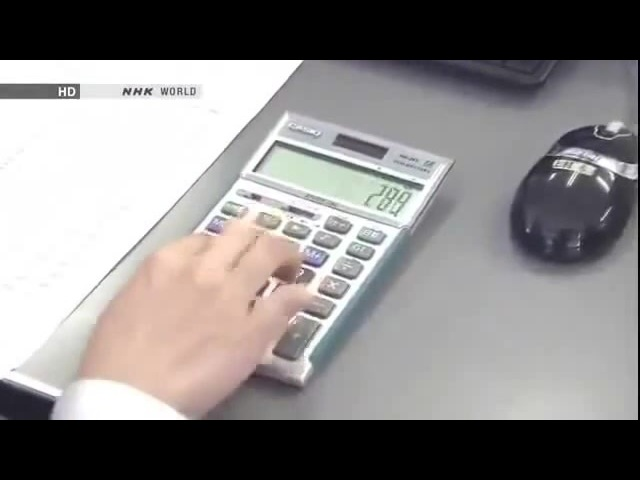 Japanese people take their calculators very seriously coub