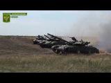 Занятия танковых экипажей на полигоне Народной милиции ЛНР
