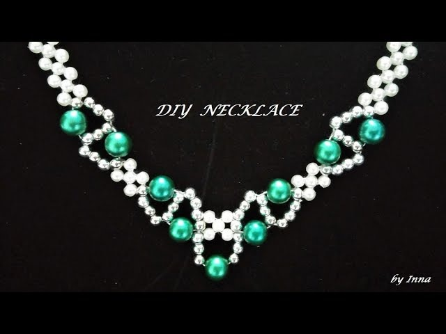 How to make a beaded necklace . Easy pattern