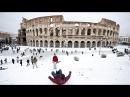 Colosseo innevato - Roma sotto la neve ❄⛄ - Febbraio 2018 - Buran Italy - It Snows in Rome