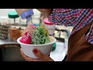 Bangkok Street Food - RAINBOW SHAVED ICE DESSERT