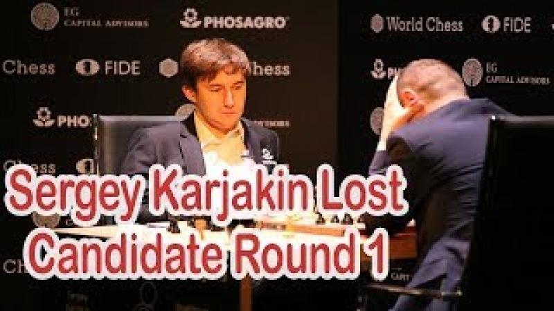 Shakhriyar Mamedyarov Beats Sergey Karjakin || 2018 FIDE World Candidates Tournament