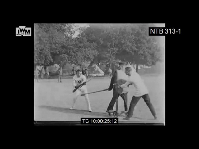 1917 Bayonet Fighting Against Newly Invented Fighting Dummy - Great Britain