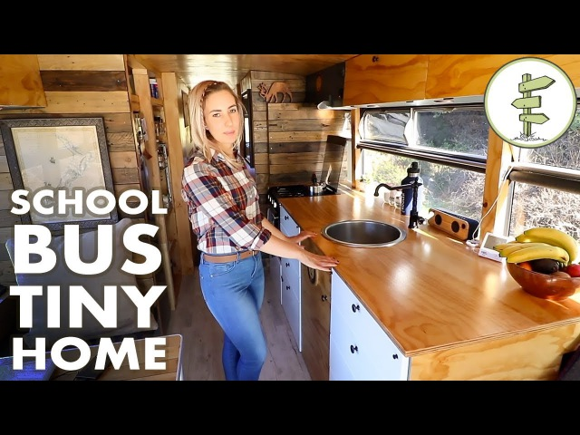 Family Quits the 9 to 5 to Live Travel in an Off Grid School Bus Conversion