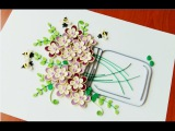 Paper Quilling Flower For beginner Learning Video 26 Paper Flower Card