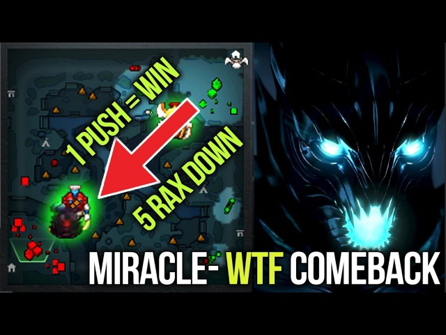 Miracle- Terroblade WTF is This Comeback - 5 Rax Down and Still Win - Dota 2