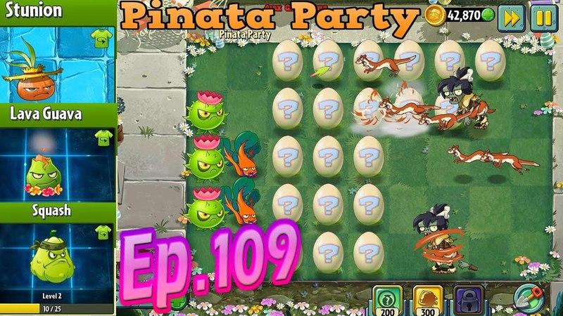 Plants vs. Zombies 2    Stunion, Lava Guava, Squash Costume - EASTER Pinata Party 432018 (Ep.109)