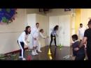 Кэтрин на уроке тенниса в школе Bond Primary School, 17.01.2018 2