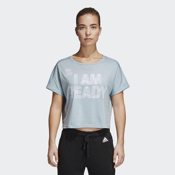 Укороченная футболка I Am Ready
