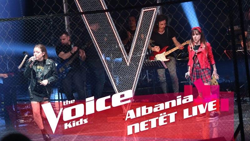 Frensi Enxhi - You shook me all night long | Голос Дети Албания Битвы. Часть 2 | The Voice Kids Albania 2018