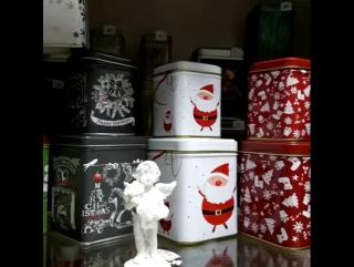 Металлические баночки для чая/кофе/конфет в новогодней тематикеКОФИТИул.Мусы Джалиля 20а69-27-11#чайкофенижневартовск #ниж
