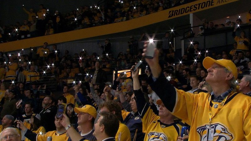 Bridgestone Arena faithful serenade teams with Let It Be