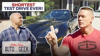 John Cena's shortest test drive ever is in a Corvette?! - John Cena: Auto Geek